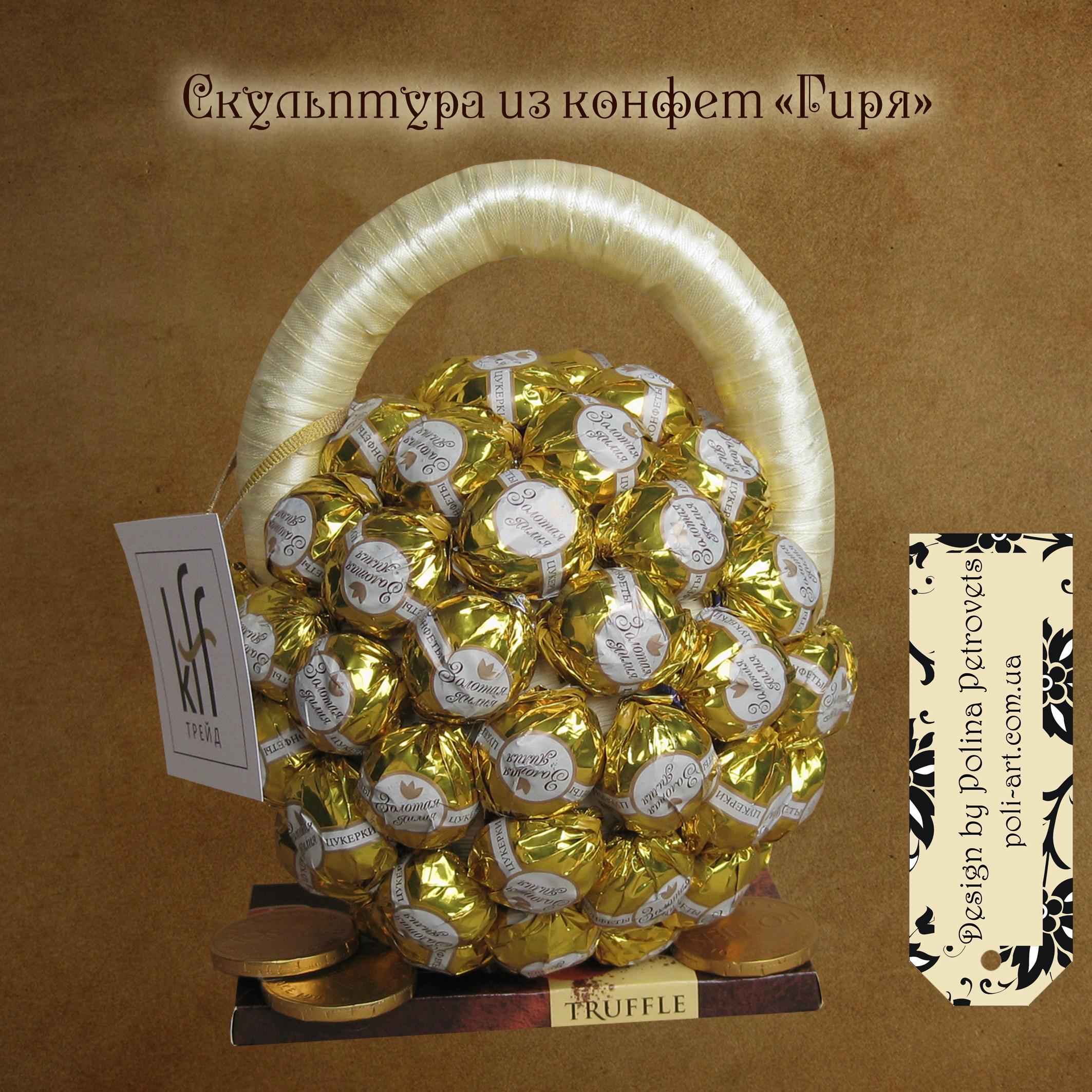 Фигуры из конфет в подарок
