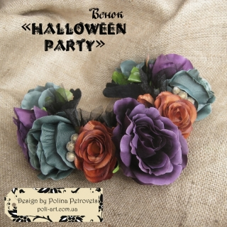 "Віночок на Halloween ""Halloween Party"""